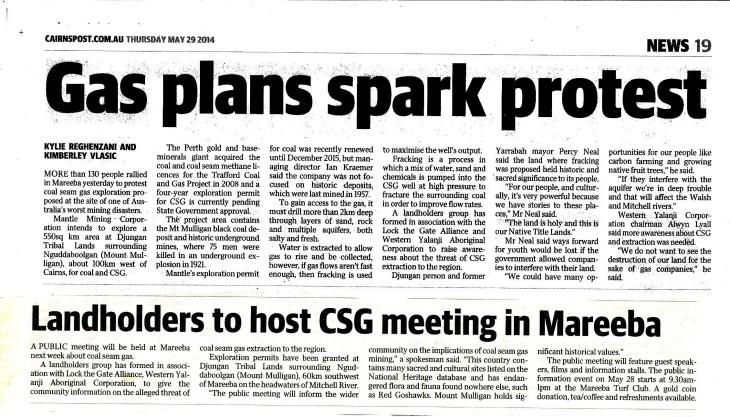 Cairns Post 29 May 2014