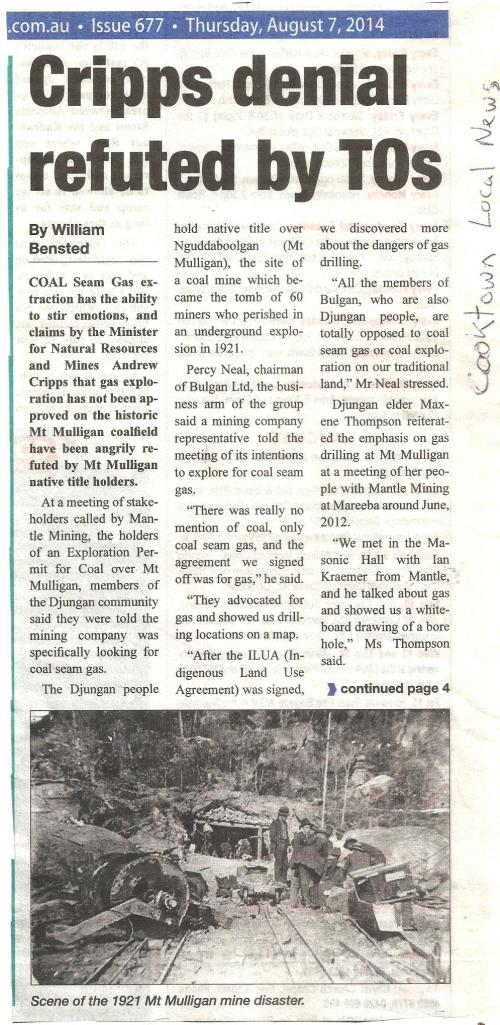 Cooktown Local News 7Aug14 1