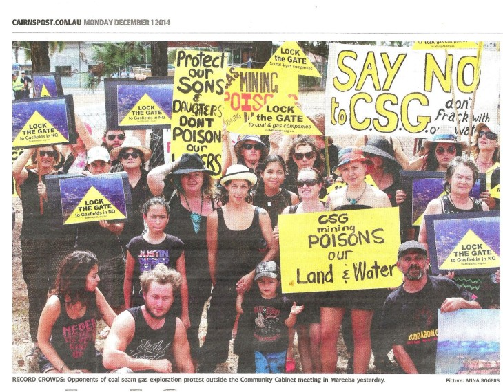 Record crowds rally against csg at Community  Cabinet Meeting in Mareeba